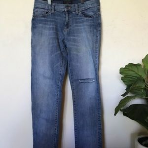 Banana Republic Capri jeans with hole in thigh